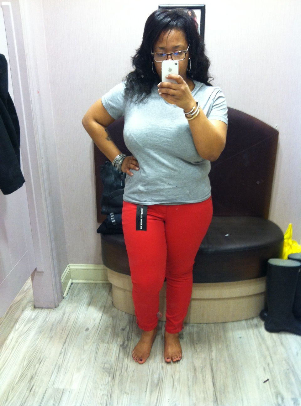 ada7feb082e Since this was my first time trying on Torrid Jeans I tried both a size 12  and 14