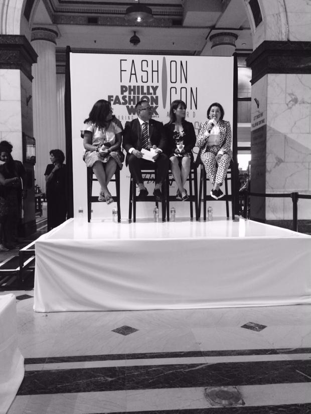 LtoR| Fern Mallis, Phila. Councilman David Oh, Macys Fashion Incubator Director Nancy,  Macys Global Forecasting Director Nicole Fiscelis